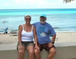 Sue and Gary on the beach in Cozumel.jpg
