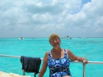 Sue relaxing after snorkeling on the reef.jpg