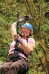 Q. Sue on the zip line.jpg